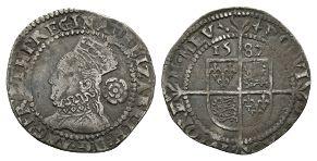 English Tudor Coins - Elizabeth I - 1582 - Muled Mintmarks Threepence