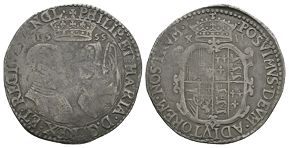 English Tudor Coins - Philip and Mary - 1555 - Shilling