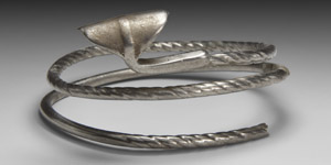 Viking Silver Twisted Arm-Ring