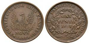 World Coins - USA - May 10th - 1837 - Hard Times Token Cent