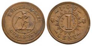 World Coins - USA - New York - Bridgens - Civil War Token Cent