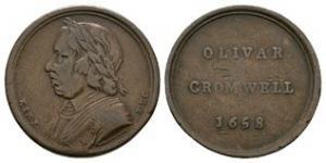 British Commemorative Medals - Oliver Cromwell - Death Medalet