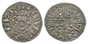 English Medieval Coins - Henry III - Canterbury / Willem - Class 5d3 Long Cross Penny