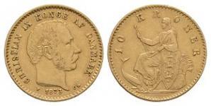 World Coins - Denmark - Christian IX - 1873 - 10 Kroner