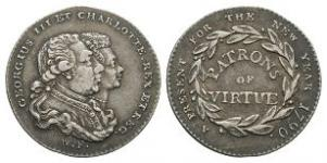 British Commemorative Medals - George III - 1790 - Silver Patrons of Virtue Medalet