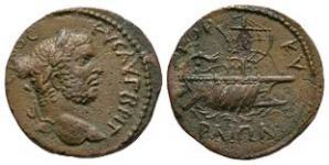 Ancient Roman Provincial Coins - Caracalla - Corcyra, Epirus - Galley Bronze