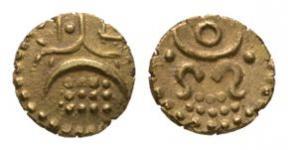 World Coins - India - Travancore - Rama Varma IV - Gold Fanam