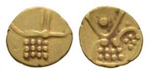 World Coins - India - Maratha Confederacy - Tanjore - Gold Fanam