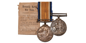 British Military Medals - George V - 1914-1918 War & Mercantile Marine Medals [2, Thomas Moore]