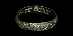Post Medieval - Silver-Gilt Posy Ring - CVMFORT ME
