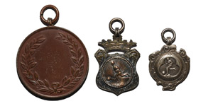 British Award Medals - Football Prize Medal and Silver Fobs [2]