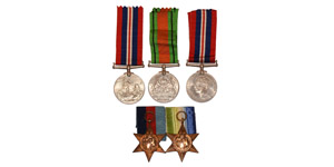 British Military Medals - George VI - War Medals Group [5]