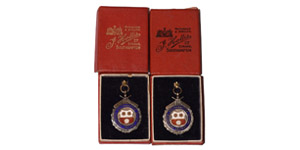 British Award Medals - Cricket - Boxed Silver Southampton WCL Prize Fobs Pair [2]