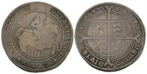 English Tudor Coins - Edward VI - 1551 - Crown