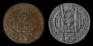 Large Medieval Scottish Seal Matrix of Roland Johns Bishop of Brechin