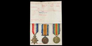 British Military Medals - George V - WWI Medals - James Woodward (Manchester Regiment)