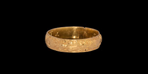 Post Medieval Decorated Accept My Good Will Gold Posy Ring