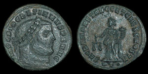 Roman Empire - Diocletian- AE Follis