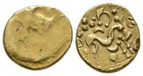 Celtic Iron Age Coins - Gallo-Belgic - Ambiani - Gold Stater