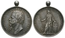 World Military Medals - Italy - Vittorio Emanuele II - Silver Canzani Independence Medal