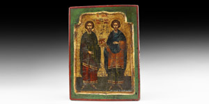 Christian Icon of Cosmos and Damianos