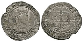 English Tudor Coins - Edward VI (in name of Henry VIII) - Canterbury - Groat