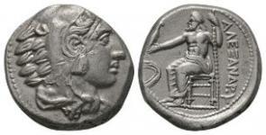 Ancient Greek Coins - Alexander III (the Great) - Zeus Tetradrachm