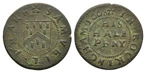 British Tokens - 17th Century - Rockingham 1668 - Token Halfpenny