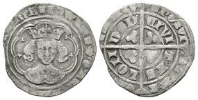 English Medieval Coins - Edward III - London - Pre Treaty Groat