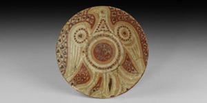 Islamic Glazed Bowl with Bird