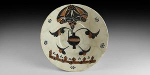Large Islamic White-Glazed Bowl
