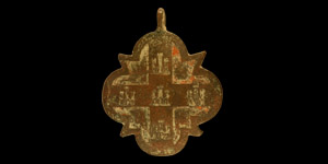 Large Medieval Heraldic Horse Harness Pendant with Arms of Castille
