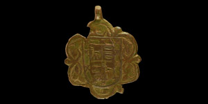 Medieval Heraldic Horse Harness Pendant with Spanish Arms