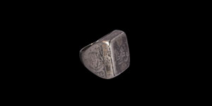 Islamic Silver Ring with Niello