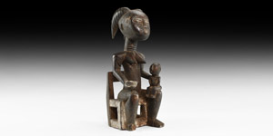 African Tribal Fertility Figure