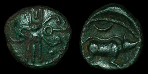 British Celtic - Trinovantes - Boar and Crescent - AE Unit