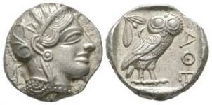Ancient Greek Coins - Athens - Owl Tetradrachm