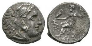 Ancient Greek Coins - Lysimachos - Zeus Drachm