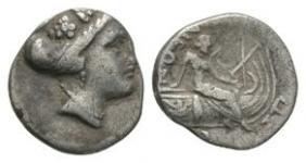 Ancient Greek Coins - Euboia - Histiaia Tetrobol