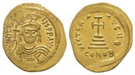 Ancient Byzantine Coins - Heraclius - Cross-on-Steps Solidus
