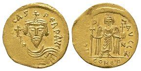 Ancient Byzantine Coins - Focas - Angel Solidus