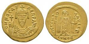 Ancient Byzantine Coins - Phocas - Angel Solidus