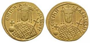 Ancient Byzantine Coins - Irene - Double Portrait Solidus