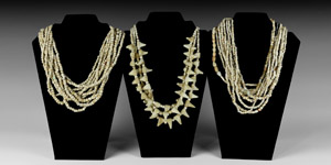 Western Asiatic Bactrian White Bead String Group