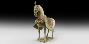 Chinese Northern Wei Caparisoned Horse