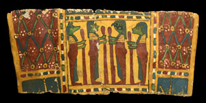 Egyptian Cartonnage with Four Sons of Horus