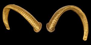 Greek Gold Golden Fleece Ram-Horn Pair