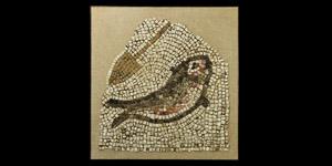 Roman Fish and Oar Mosaic Panel
