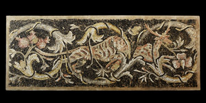 Roman Mosaic Panel with Tiger Attacking Stag