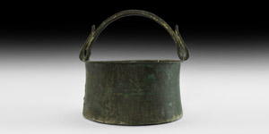 Anglo-Saxon Decorated Bucket with Handle